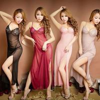 【LuxuryRose】ロングベビードール&スリットデザイン×セクシーショーツSET