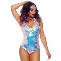 【LegAvenue】 オーロラ スパンコール ヴィーナス ボディスーツ Iridescent Sequin Bodysuit