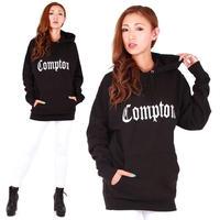 【LAインポート】 ユニセックス👫💕  Compton ロゴ パーカー フーディ