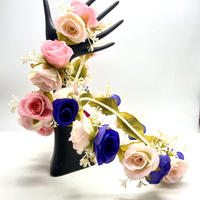 【Luxury Rose】2色あり‼️ フラワー ヘッドリング かんむり