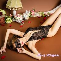 【LuxuryRose】アイマスク付き  花柄レーステディ