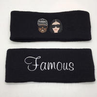 【World wide Famous】KIMYE・FAMOUSロゴ ヘアターバン