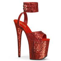 即納!【Pleaser】20㎝ヒール❗️FLAMINGO-891LG プリーザー フラミンゴグリッター  Red Glitter/Red Glitter