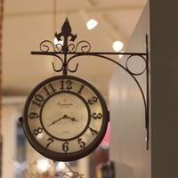 lefl-C261 壁掛け時計(ダークブラウン)