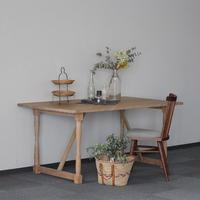現品のみ対象 Lv-UN0001 UN(アン) ダイニングテーブル ホワイトオーク材 ※エコウレタン塗装
