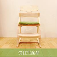 【受注生産】lec-0004 アップライトチェア(フレーム:オイル + 布ツミキ or 布ボンボン)