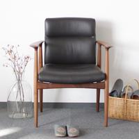 現品のみ対象! Lv-T2W-003 Swing Chair スウィングチェア ウォールナット材 馬革