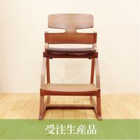 【受注生産】lec-0006 アップライトチェア(フレーム:ウォールナット + 布ツミキ or 布ボンボン)
