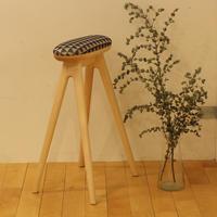 Lv-sl-mp1 branche(ブランシェ)キッチンスツールLサイズ メープル材 布張り
