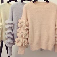 Sweater フリル袖セーター