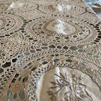 クロシェット&スワトウ刺繍テーブルクロス