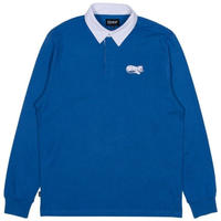 RIPNDIP RIPNTAIL Rugby Long Sleeve Polo (Navy / White)
