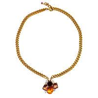 Petit Bouton ネックレス  Rose single Czech button pendant necklace PBNL 17