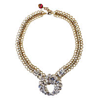 Vintage Legend ネックレス Round rhinestone statement necklace VLNL 03