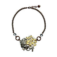 Yellow Flower Bouquet Statement Necklace