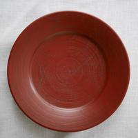 赤木明登 7寸皿 赤