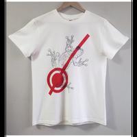 【プリント】逃れた蛙_ホワイトTシャツ