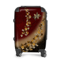 Japanese style butterfly emblem art Suitcase