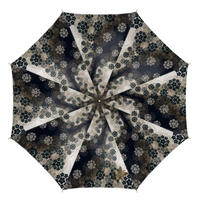 Japanese flower emblem decoration Umbrella