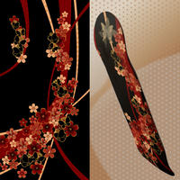 Flower and Butterfly Skateboard