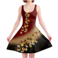 Japanese style Butterfly decoration Skater Dress