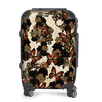 Japanesque Rose and Butterfly Suitcase