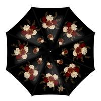 Japanese style flower art design Umbrella