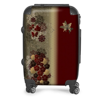 Japanese traditional family emblem art Flower and Butterfly Suitcase