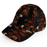 Peony and Butterfly emblem Baseball Cap