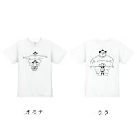 「たぷの里」スポーツドライTシャツ ホワイト(両面プリント)