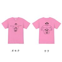 「たぷの里」スポーツドライTシャツ ピンク(両面プリント)