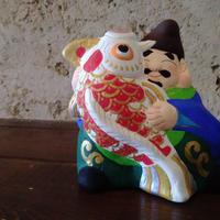 信州なかの土人形 錦鯉えびす ミニ