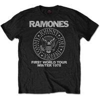 RAMONES MEN'S TEE: FIRST WORLD TOUR 1978