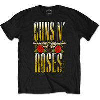 ガンズアンドローゼーズ (Guns N Roses)  Big Guns Mens Black T Shirt