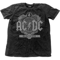 AC/DC MEN'S FASHION TEE: BLACK ICE SNOW WASH (スノーウォッシュ)