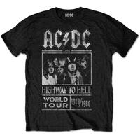 AC/DC MEN'S TEE: HIGHWAY TO HELL WORLD TOUR 1979/1980