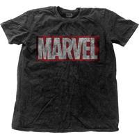 マーベルコミック (MARVEL COMICS) メンズファッションTシャツ (MEN'S FASHION TEE): VINTAGE LOGO