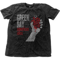 GREEN DAY メンズファッションティー: AMERICAN IDIOT VINTAGE WITH SNOW WASH FINISHING