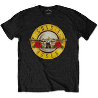 ガンズアンドローゼーズ (Guns N Roses)  Classic Logo Mens Black T Shirt