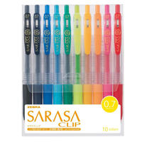 ゼブラ ジェルボールペン サラサクリップ 0.7 10色セット JJB15-10CA