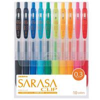 ゼブラ ジェルボールペン サラサクリップ 0.3 10色セット JJH15-10CA