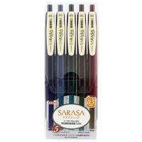 ゼブラ サラサクリップ 0.5 ビンテージ5色 JJ15-5C-VI,  -VI2 2種