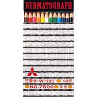 三菱鉛筆 ダーマトグラフ 油性色鉛筆 12色セット K7600 12C