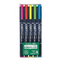 ゼブラ 蛍光ペン オプテックスケア  5色セット WKCR1-5C