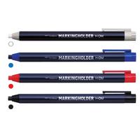 トンボ鉛筆 マーキング(ダーマート)ホルダー H-DM 4色