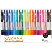 ゼブラ ジェルボールペン サラサクリップ 0.5 20色セット JJ15-20CA
