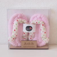baby布ぞうり「いっぽ」ピンク<お名前木札つき>
