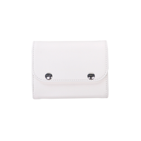 [WEB LIMITED] M073 財布小 ダブルフラップ / ホワイト