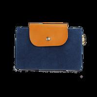 01 はちのす  (カードケース) 染色 ブルー
