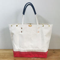 【一点物】REMAKE TOTE-L / SEA BREEZE (FR0148)  / Natural White x Red